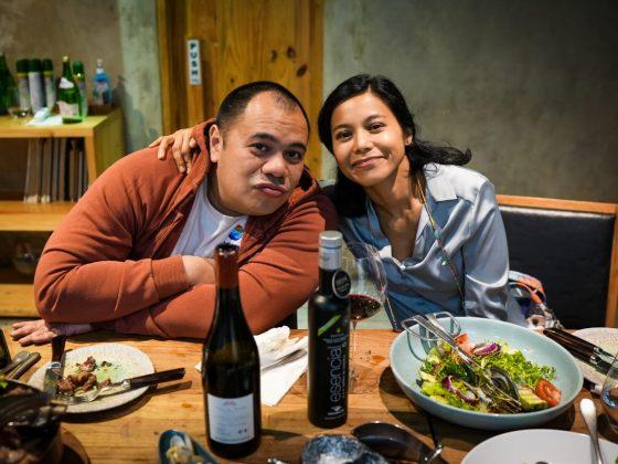 Pandu Sjahrir and his wife