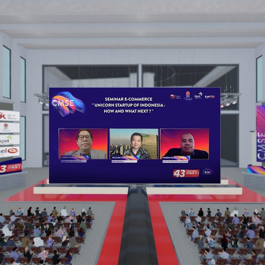 Komisaris BEI, Pandu Sjahrir menjadi pembicara dalam Seminar Virtual CMSE 2020