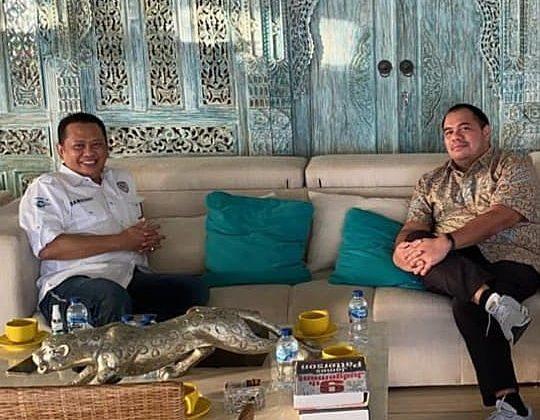 Pandu Sjahri berdiskusi hangat bersama Ketua MPR RI, Bambang Soesatyo